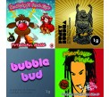 4 x 3g Combo Pack - Marley's Magic / Funky Buddha / BubbleBud / Funky Buddha Silver Blends